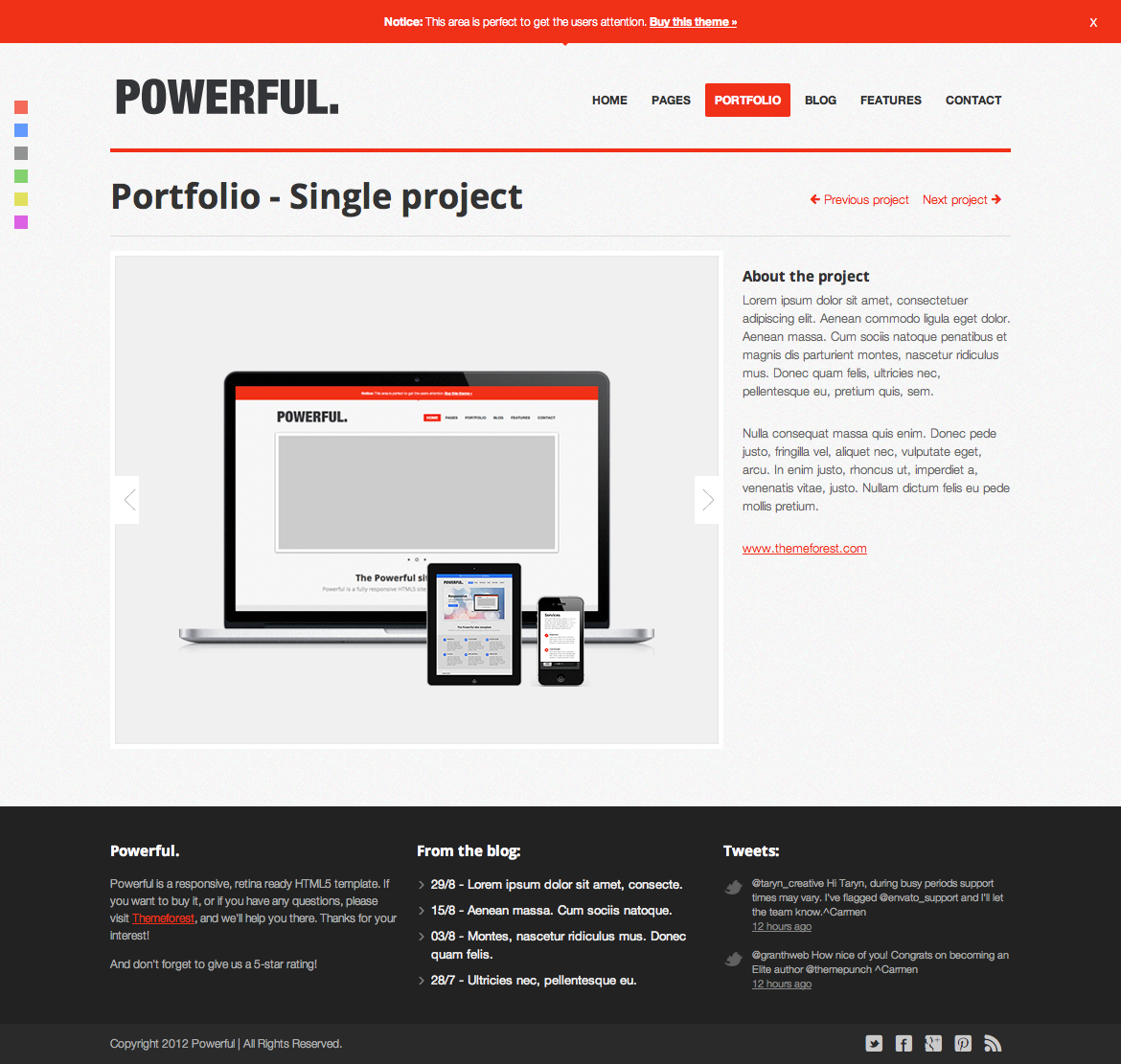 Powerful - Responsive, Retina-ready HTML5 template