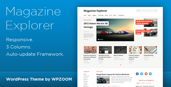 Magazine Explorer - WordPress Theme