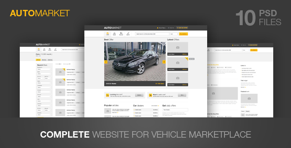 AutoMarket - Vehicle Marketplace - Business Corporate