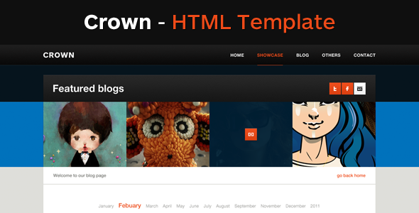 Crown - A Clean HTML Template