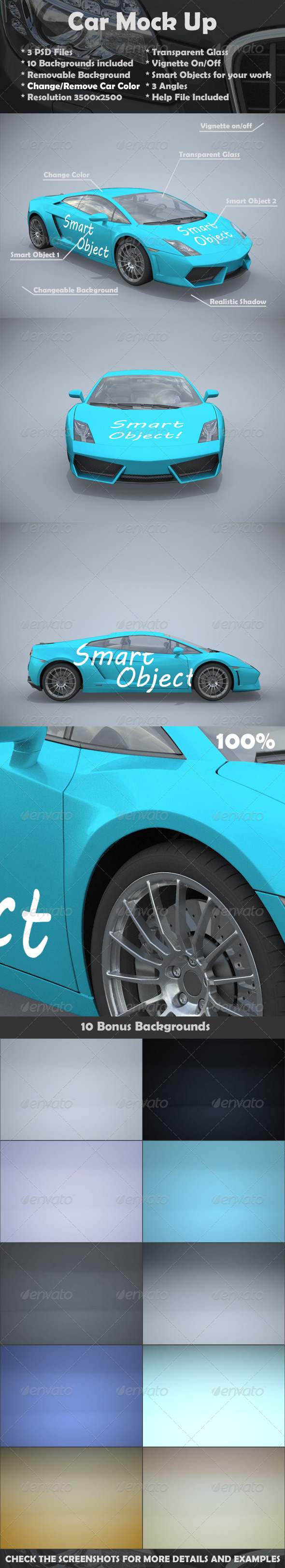 Car Mock Up - Vehicle Wraps Print