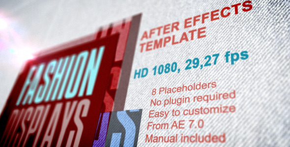 After Effects Project - VideoHive Fashion Displays with Text Presentation 2 ...