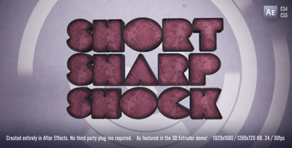 [VideoHive 308680] Short Sharp Shock | After Effects Project