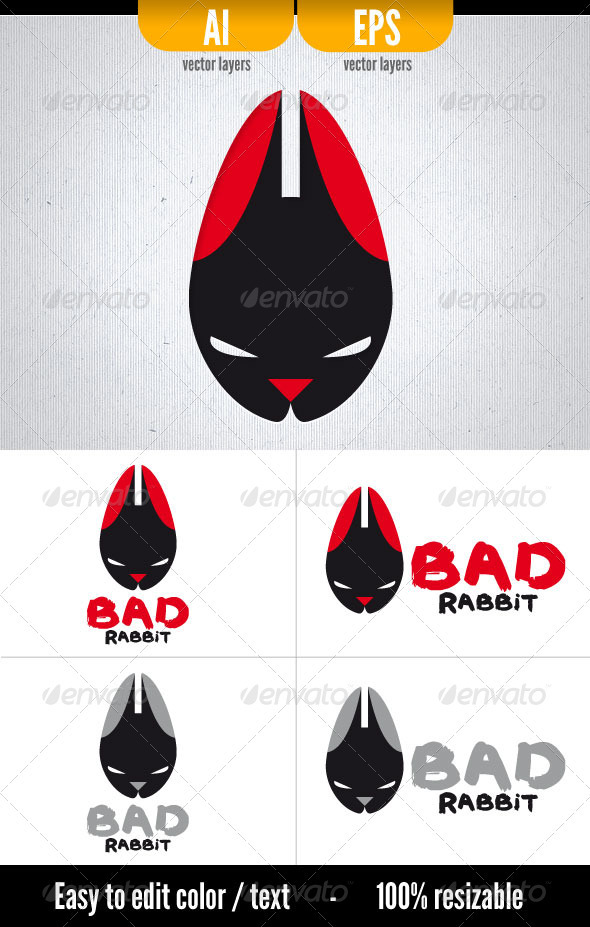 Bad Rabbit - Logo Template - Animals Logo Templates