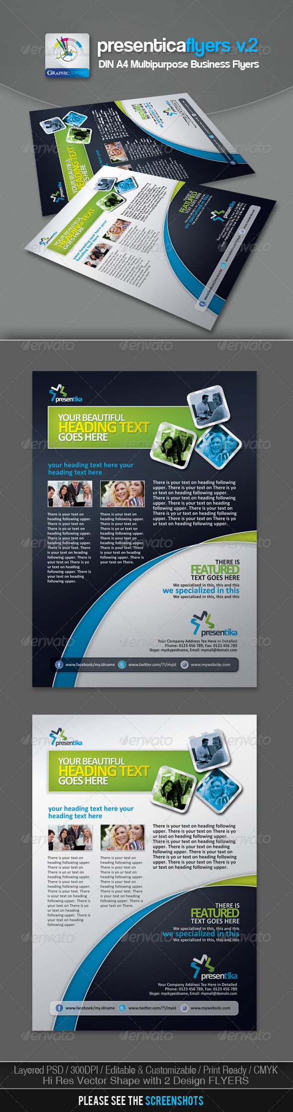GraphicRiver Presentica Corporate Business Flyers v.2 2986973
