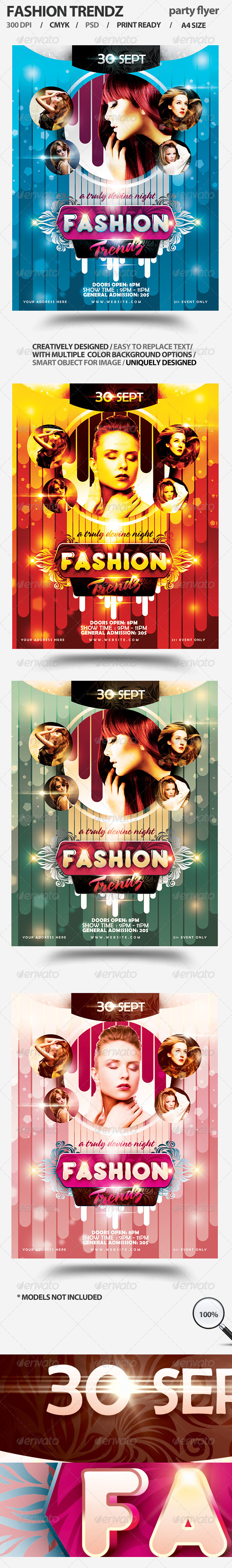 Fashion Trendz Party Flyer - Miscellaneous Events