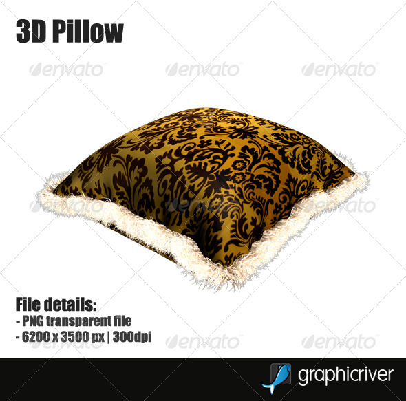 3D Pillow - Objects 3D Renders