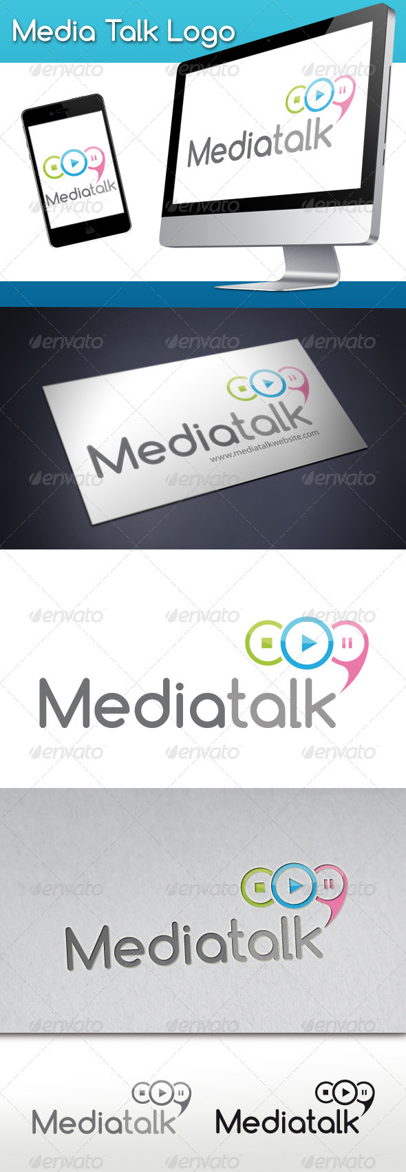 Media Talk Logo - Objects Logo Templates