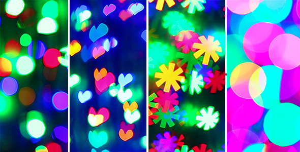 Illumination Garland Blinking Bokeh (4-Pack) by HamsterMan VideoHive