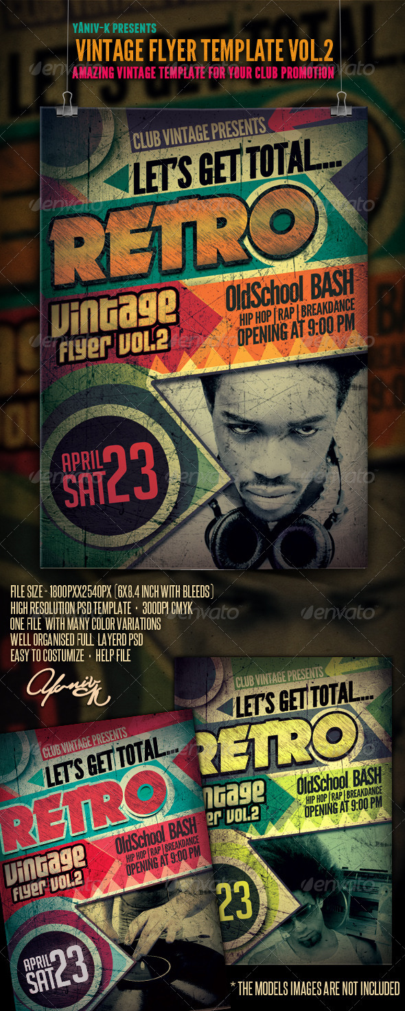 Vintage Flyer Template Vol.2 - Clubs & Parties Events