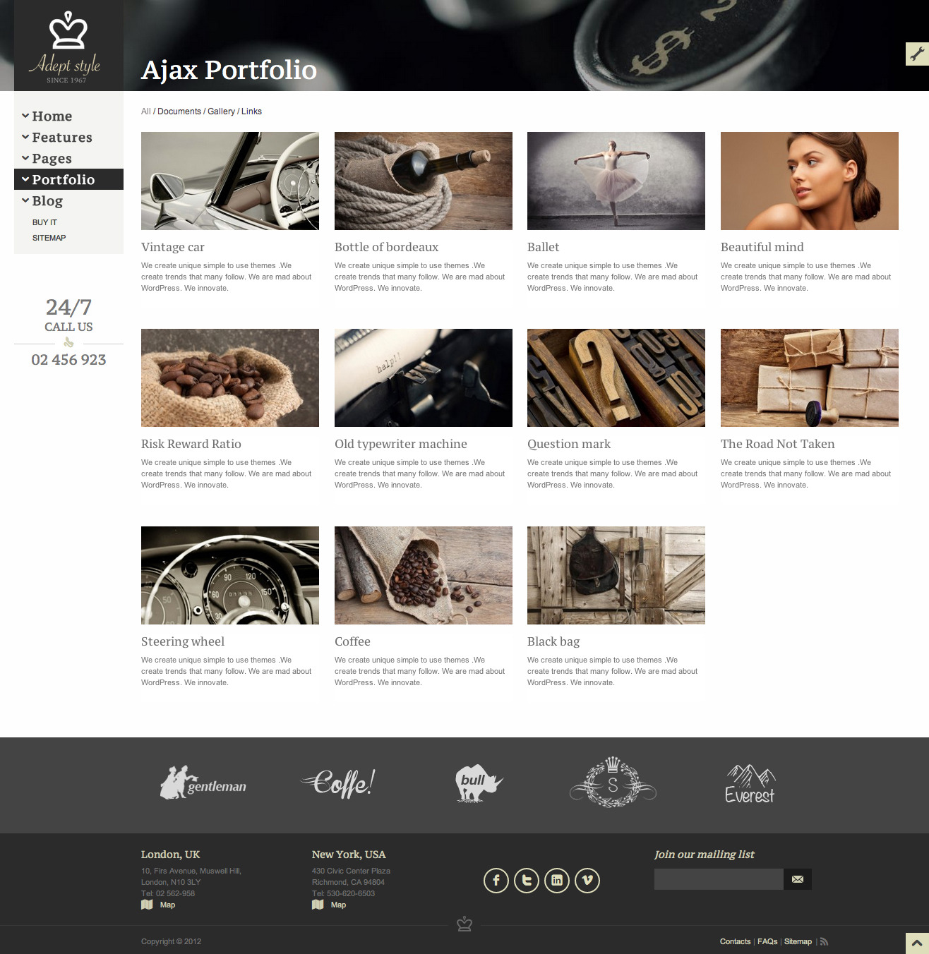 Adept Style Responsive for Business Portfolio