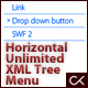 Horizontal Sliding Unlimited XML Tree Menu - ActiveDen Item for Sale