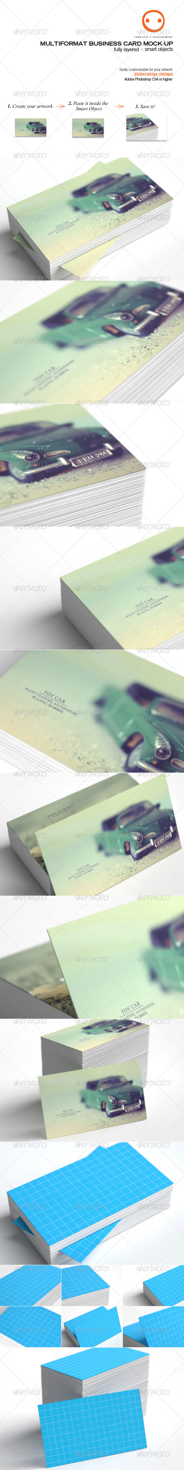 Multiformat Business Card Mock-up - Business Cards Print