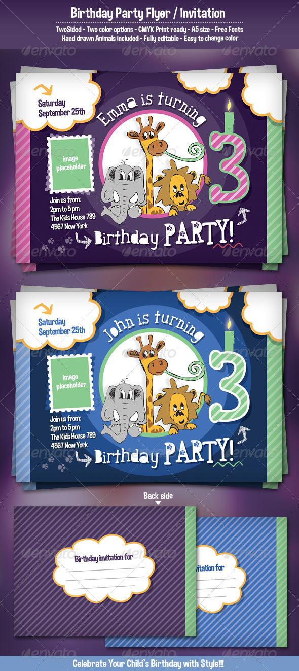 Birthday Party Flyer / Invitation - Holidays Events