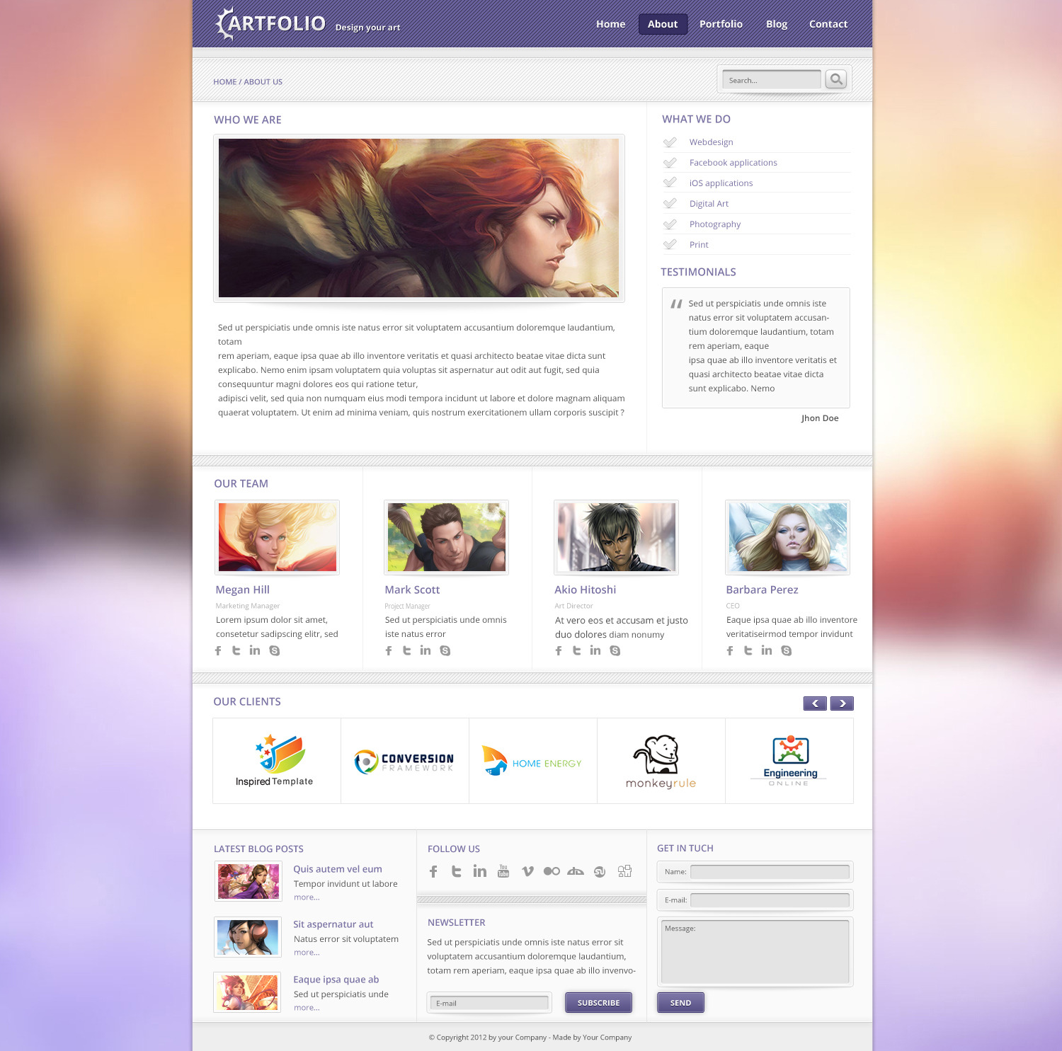 Artfolio - PSD Template