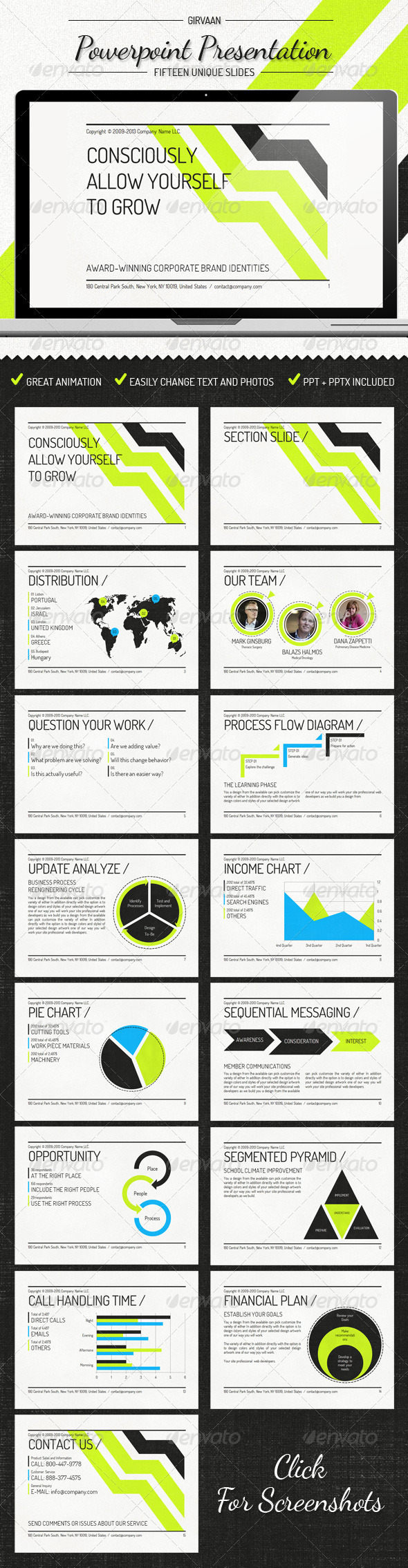 Girvann - Power Point Presentation - Powerpoint Templates Presentation Templates