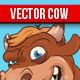 Vector Cow and Bull Illustration - GraphicRiver Item for Sale