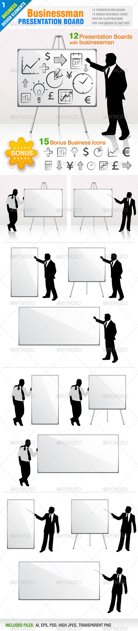 12 Businessman Presentation - Business Conceptual