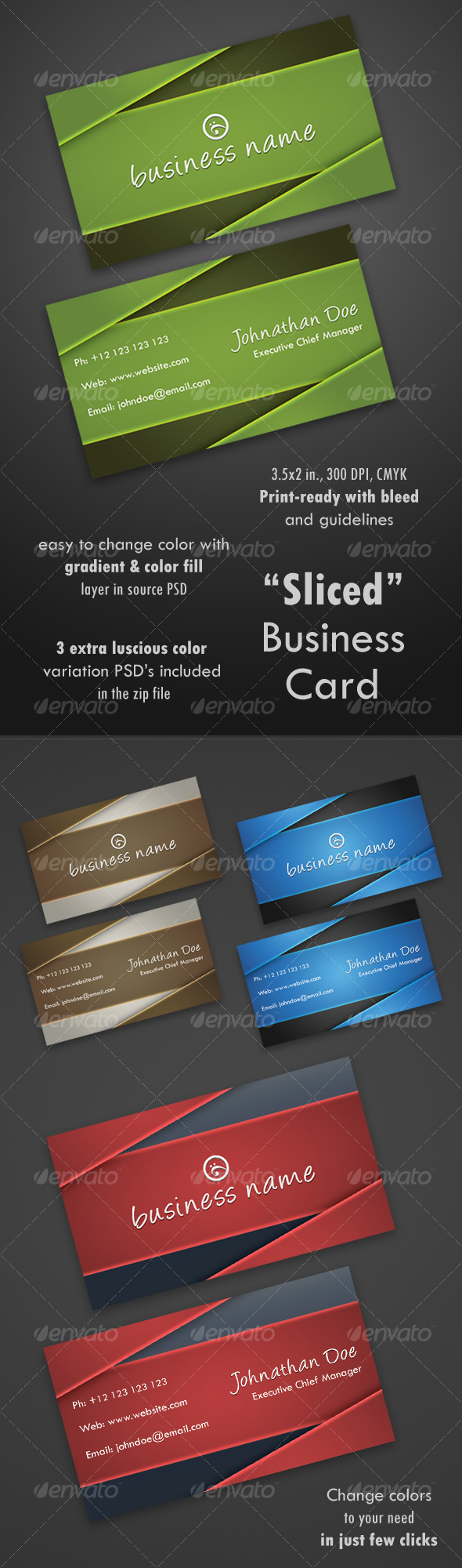Sliced Business Card - Corporate Business Cards
