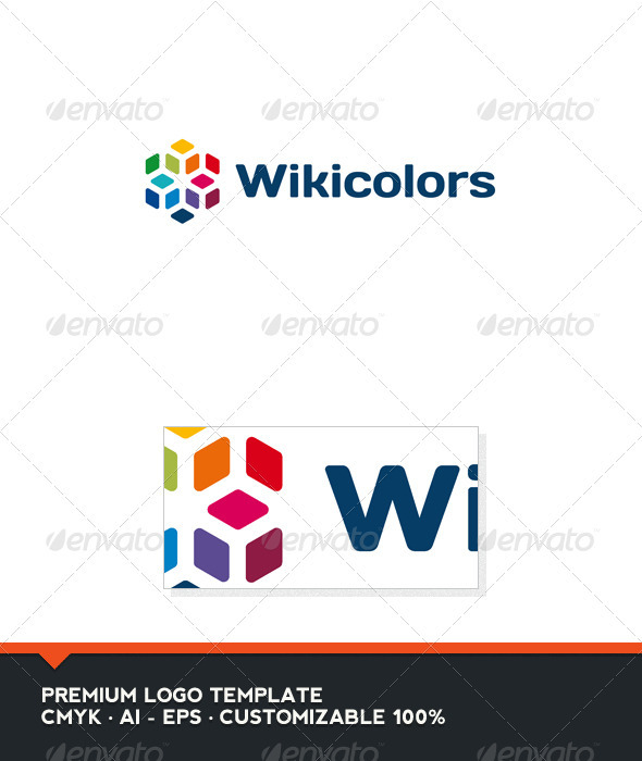 Wiki Colors Logo Template - Abstract Logo Templates