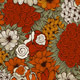 Vector Seamless  Pattern with Funky Flowers - GraphicRiver Item for Sale