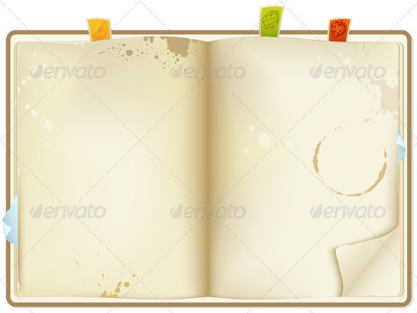 Open Recipe Book - Miscellaneous Vectors