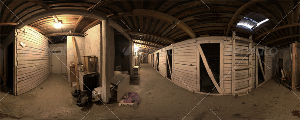 Industrial Area HDRI - Warehouse Corridor - 3DOcean Item for Sale