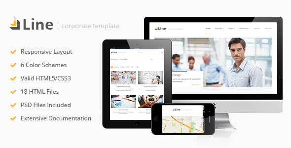ThemeForest Line Responsive Corporate HTML Template 3000129