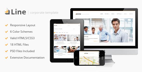 ThemeForest Line Responsive Corporate HTML Template 3000129