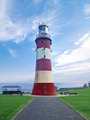 Portrait Image of Smeatons Tower Lighthouse Plymouth UK - PhotoDune Item for Sale