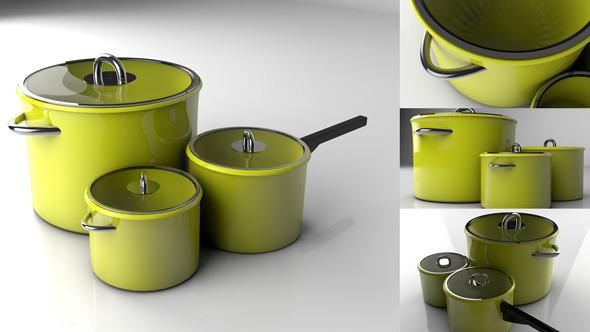 3DOcean Green Pots 3000985