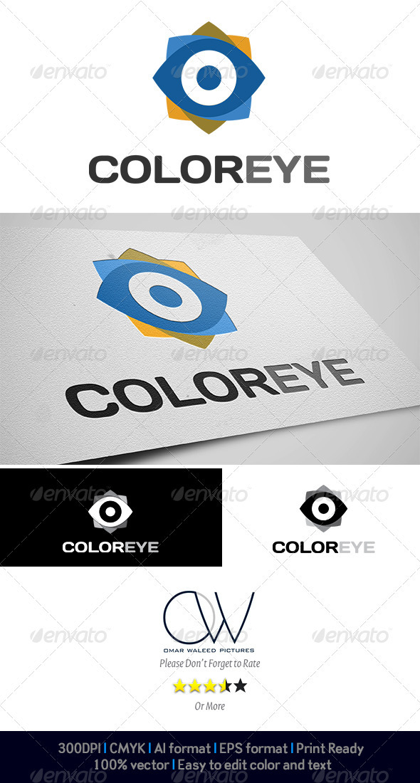 Color Eye Logo - Logo Templates
