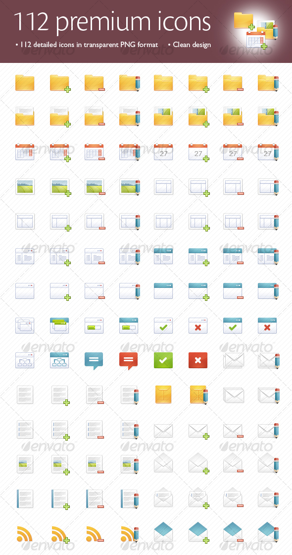 112 premium icons - Web Icons