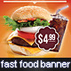 Fast Food Promotion Banner - GraphicRiver Item for Sale