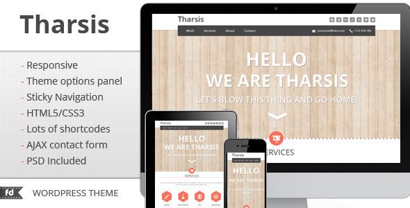 ThemeForest Tharsis Responsive Portfolio theme 2862712