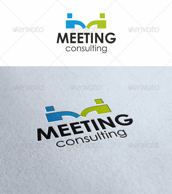Meeting Consulting - Letters Logo Templates