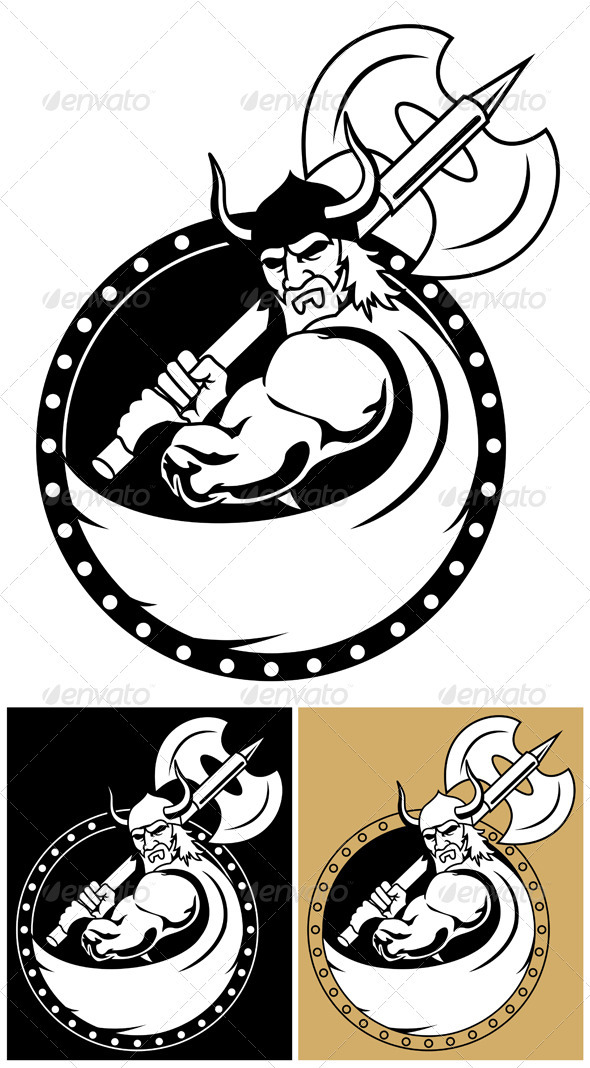 Viking With Axe - Characters Vectors