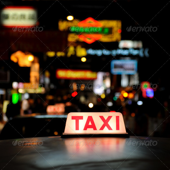 Stock Photo - PhotoDune Taxi sign 260332