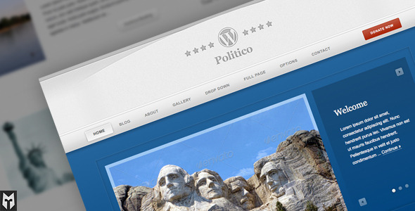Politico: Political Campaign WordPress Theme - Political Nonprofit