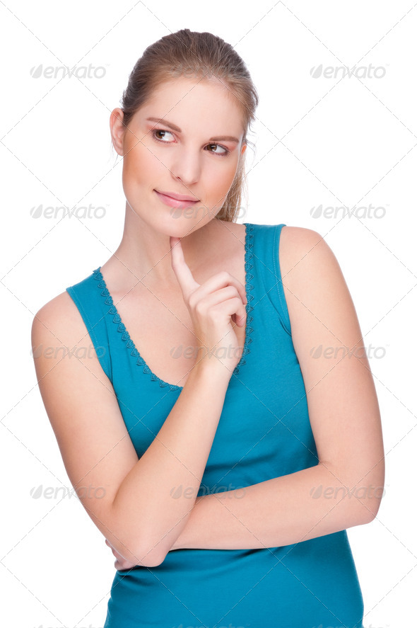 Thinking woman - Stock Photo - Images