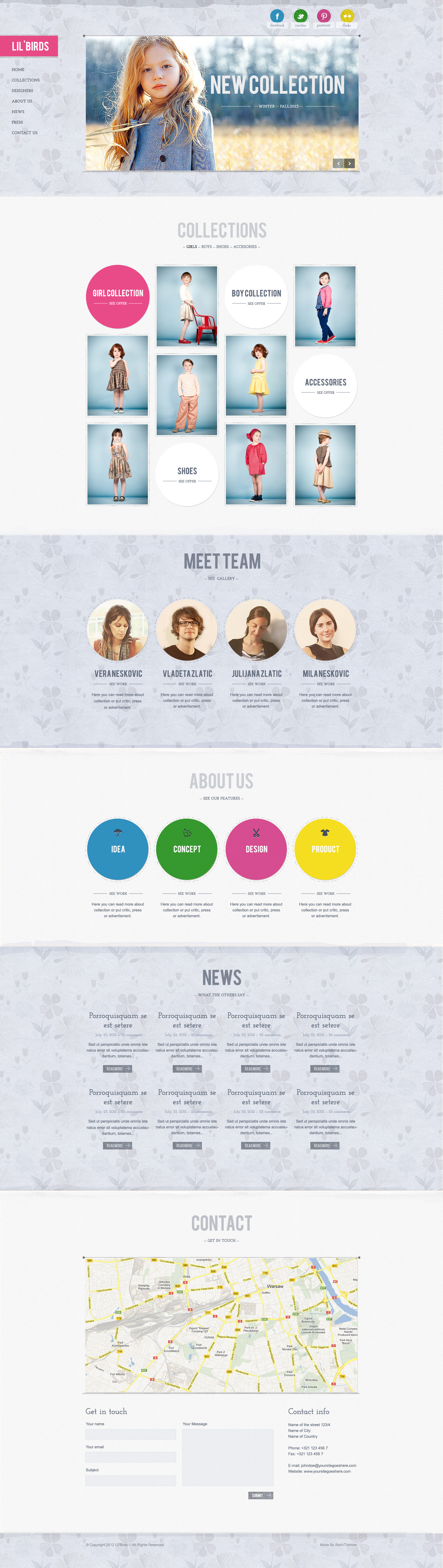 Lil'Birds -- unique PSD Template