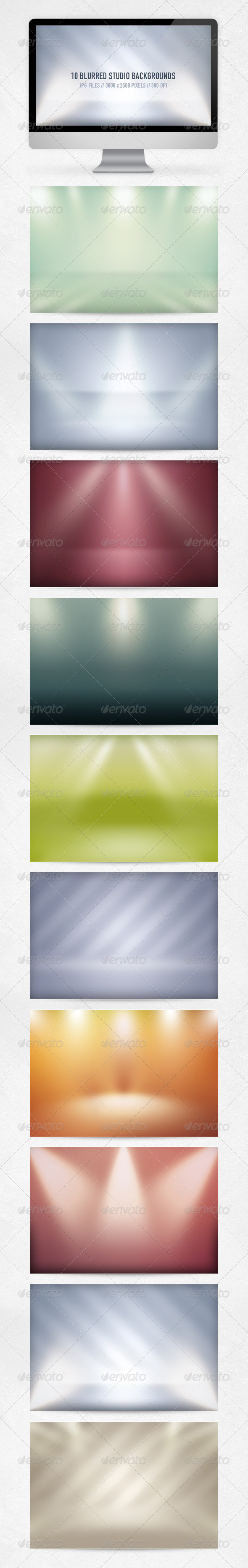 GraphicRiver 10 Blurred Studio Backgrounds 3007475