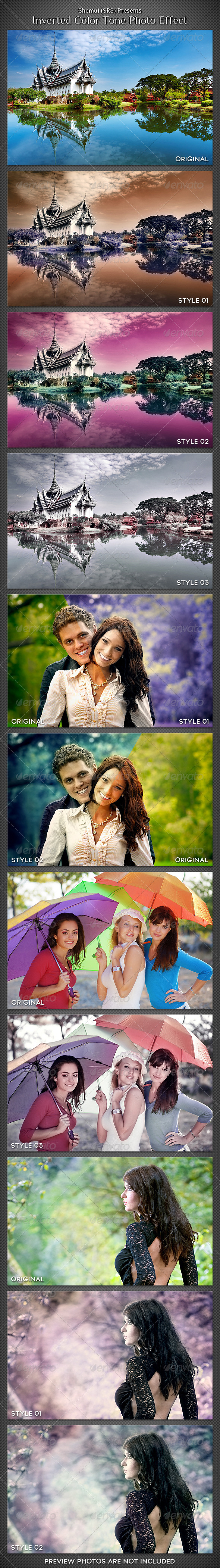 Inverted Romantic Tone Photo Effect Action - Photo Effects Actions