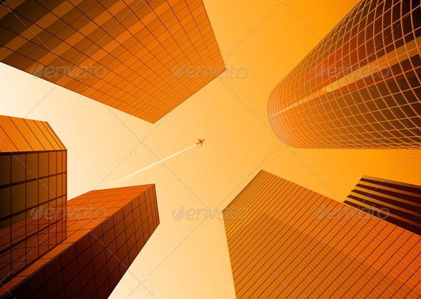 Urban background - Buildings Objects