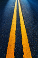 Road Marking - Double Yellow Lines on asphalt - PhotoDune Item for Sale
