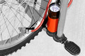 Flat bike tire and bike pump - PhotoDune Item for Sale