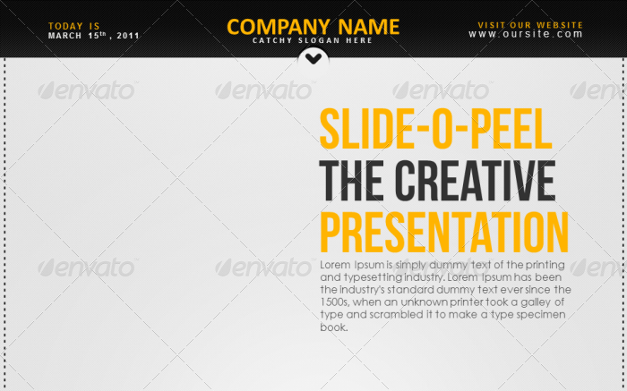 Slide-O-Peel Creative PowerPoint Presentation