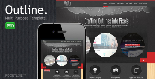 ThemeForest Outline Multi Purpose PSD Template 2534085
