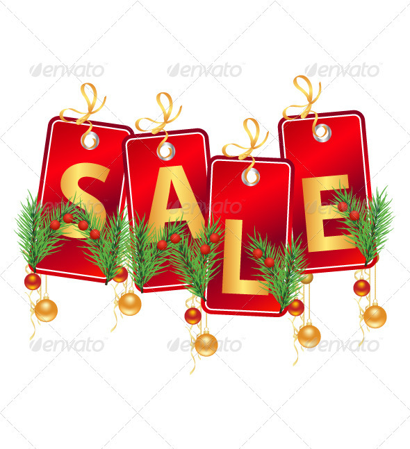 Christmas Sale Tag - Commercial / Shopping Conceptual