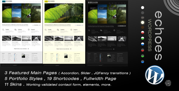 Echoes Premium Wordpress 11 in 1 - Portfolio Creative